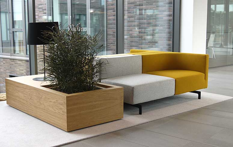 Bepflanzte Möbel Sitzelemente, akzente raumbegrünug