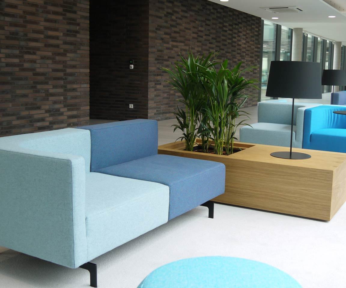 Moderne Innenraumgestaltung von Firmen mit Pflanzen