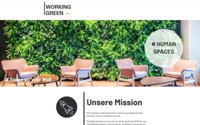 Working Green. Unsere neue Website.